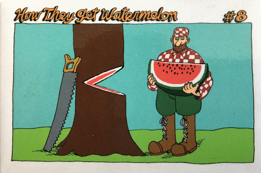 How they get watermelon postcard
