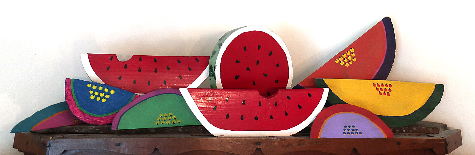 Collection of watermelon art