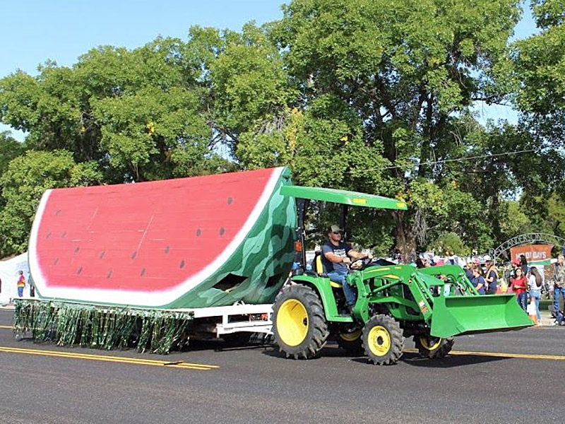 Watermelon float in parade